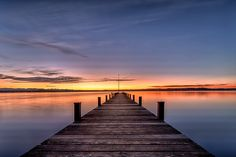 The Jetty - Explored Sunrise Pictures, Beach Pictures, Pretty Pictures, Water Photography, Color Photography, Lake Dock, Urban Street Art, Nature Aesthetic, Landscape Pictures