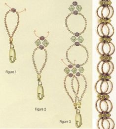 diagram-shows this as a necklace but I like it better for a bracelet