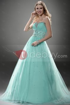 A-line Sweetheart Floor-length Prom/Ball Gown Dress #mint