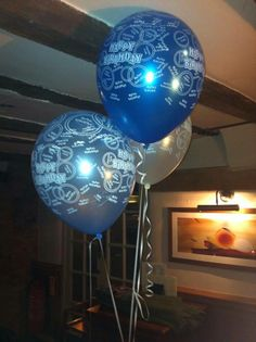 balloons, blue theme