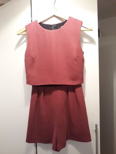 666c93536bd8 Miss Selfridge Burgundy Red Playsuit Petite Size 6  fashion  clothing   shoes  accessories