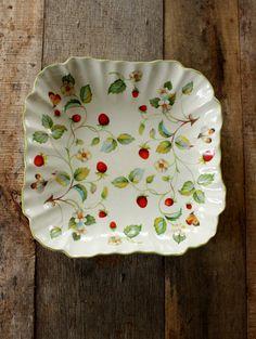 Vintage James Kent Old Foley Strawberry Pattern by NanasAtticFairy, $18.00