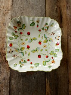 Vintage James Kent Old Foley Strawberry Pattern by NanasAtticFairy, $18.00