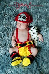 Ravelry: Newborn Firefighter Outfit pattern by Briana K Crochet