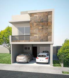 Fachadas de casas de dos pisos sencillas arquitectura for Nuevas fachadas minimalistas