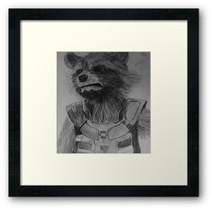 Rocket Drawing, Raccoon Drawing, Drawing S, Framed Art Prints, Canvas Prints, Marvel Drawings, Graphite Drawings, Centerpiece Decorations, Artwork Design