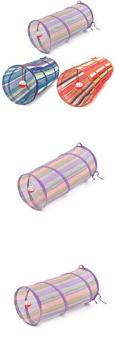 [Visit to Buy] 3 Colors Cat Tunnel Animal Play Toy Cat Training Collapsible Bulk Funny Cat Toys Product With Ball 60cm Long High Quality  #Advertisement