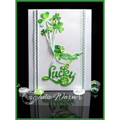 Lucky Die and Birdies Dies at Serendipity Stamps make a fun St. Patrick's Day card!