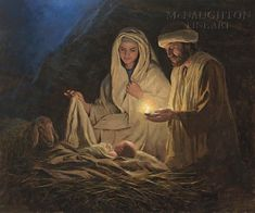 Realistic looking nativity scene garden flag featuring an inspiring, close-up view of the Holy Family with baby Jesus asleep on the hay. Jon Mcnaughton, Lucas 2, Jesus Mary And Joseph, Photo Souvenir, Jesus Christus, True Meaning Of Christmas, Litho Print, Jesus Pictures, Bible Pictures