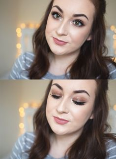 Gemma Louise // Beauty & Lifestyle Blog : Bronzed Glitter Makeup Tutorial.