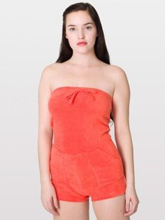 4e6a21c928a American Apparel Loop Terry Romper - A summertime classic. Use the straps  as a decorative