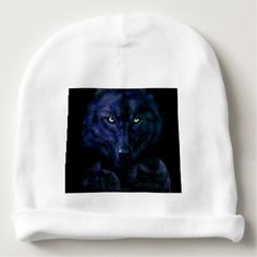 The Black wolf Baby Beanie - black gifts unique cool diy customize personalize