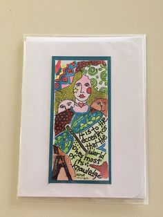 A personal favorite from my Etsy shop https://www.etsy.com/listing/499561196/greeting-card-handmade-eclectic-native