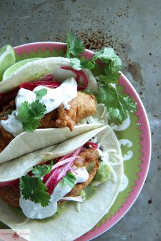 Fried Avocado Tacos by Heather Christo