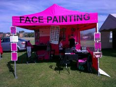 My outdoor face painting set up