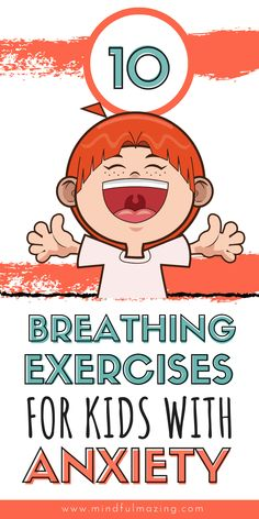 These 10 breathing exercises for kids are the perfect tools to help your anxious child calm down, re-focus and de-stress. They are the perfect calm down tools trusted by parents, teachers and therapists. Mindfulness For Kids, Mindfulness Activities, Yoga For Kids, Exercise For Kids, Kid Yoga, Character Education, Physical Education, Health Education, Special Education
