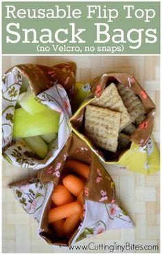 795f81ffbfa8 Reusable Snack Bag Tutorial. Reduce waste by using this simple sewing  tutorial for DIY flip