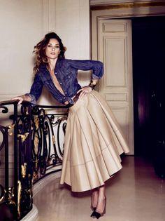 Love the combination. chic yet very feminine.