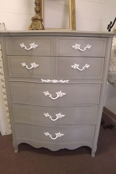 Shabby Chic French Country Paris Apt Tallboy by JunqueChic on Etsy