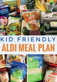 This kid friendly ALDI meal plan includes seven easy dinner ideas plus breakfast and lunch options. Great for picky eaters! Monthly Meal Planning, Family Meal Planning, Budget Meal Planning, Summer Meal Planning, Budget Meals, Budget Recipes, Frugal Meals, Freezer Meals, Family Meals