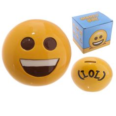Big Smile Emotive Money Box  Made from ceramics  ​Dimensions: Height 11cm Width 12.5cm Depth 9.5cm Slot 2.5cm  ​Delivery prices available on checkout