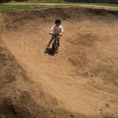 Fun on dirt. #epicentercycling #striderbike #santacruz #aptospumptrack