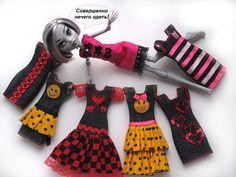 Простое джинсовое платье на куклу- подробный МК. / Одежда и обувь для кукол - своими руками и не только / Бэйбики. Куклы фото. Одежда для кукол