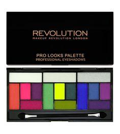Makeup Revolution - Paleta Pro Looks - Eat Sleep Makeup Repeat > ojos > sombra de ojos > paletas de sombras