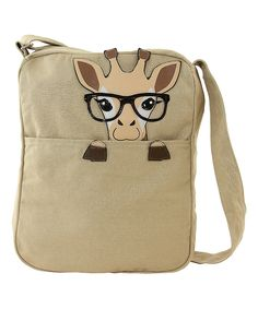 Look at this #zulilyfind! Khaki Giraffe Canvas Crossbody Bag by Sleepyville Critters #zulilyfinds