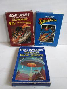 Three Vintage Atari 2600 Games in Original Box by suburbantreasure, $28.00