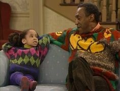 oooh the sweaters. love the cosby show.