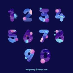 Colorful number collection with flat design Free Vector Web Design, Icon Design, Design Plat, Media Design, Vector Design, Layout Design, Logo Design, Flat Design Icons, Flat Design Inspiration