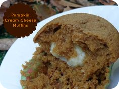 Pumpkin Cream Cheese Muffins that copletely take away the need to pay for those over priced ones at the coffee shop. #pumpkin #fallrecipes ~realthekitchenandbeyond.com