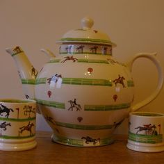 Emma Bridgewater Studio Special Gymkhana Gallon Teapot for Collector's Day 2010