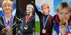 Evgeni Plushenko He is on the top of the world Salt Lake City 2002 - silver medal Torino 2006 - Gold medal Vancouver 2010 - silver medal Sochi 2014 - Gold team medal
