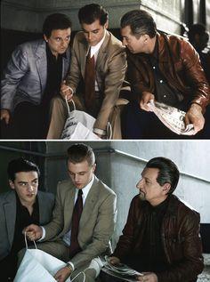 Joe Pesci, Ray Liotta  Robert De Niro in Goodfellas / Vincent Piazza, Michael Pitt  Sir Ben Kingsley do Goodfellas for Bazaar by Jason Schmidt, November 2011
