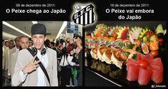 A Linha do Tempo no Futebol! Resumo da participação do Santos FC no Mundial Interclubes da FIFA 2011, no Japão .