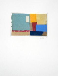 """Untitled VIII"" by Catherine Bartlett Hirani (collage & acrylic, 3 1/2 x 5 1/2 image size, $250 unframed)"