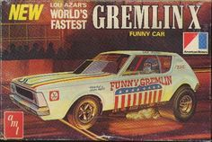 AMT Gremlin X Funny Car box art