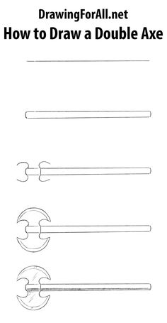 How to Draw a Double Axe. Learn how to draw a battle axe step by step: http://www.drawingforall.net/how-to-draw-a-double-axe/