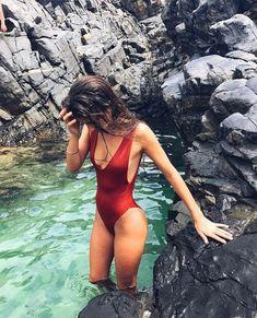 Shop for stylish Designer Swimwear for Women at REVOLVE CLOTHING. Find designer bathing suits including Bikinis, One Piece suits & more from top brands! Summer Pictures, Beach Pictures, Shotting Photo, Bikini Modells, Daily Bikini, Bikini Babes, Foto Casual, Maternity Swimwear, Cute Bathing Suits