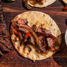 Good Eats Skirt Steak (Marinade) - Great for Fajitas! Fajita Mix, Grilled Skirt Steak, Steak Fajitas, Mexican Dishes, Grilling, Lime, Stuffed Peppers, Eat, Ethnic Recipes