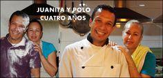 AMISTAD DE CUATRO AÑOS El Chef Polo y Juanita.