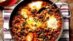 Mexická kuchyně se vyznačuje ostrou chutí, masem a zeleninou. Velmi často se jídla připravují tzv. v jednom hrnci, v tomto případě v jedné pánvi.