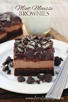 Chocolate Mint Mousse Brownies with Nestle Toll House DelightFulls #recipe
