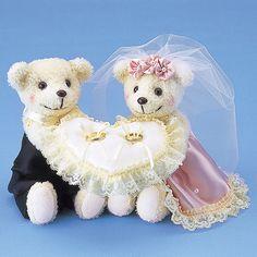 リングピロー〔ベア・ピンク〕完成品|結婚式演出の手作りアイテム専門店B.G.