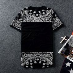 Harajuku Hip hop t shirt Extended tee skate women men Sport Casual Rock Priced at $26.50 DISCOUNTS