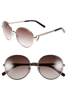 Chloé 55mm Oval Sunglasses