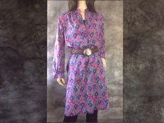 S M 70s RAOUL Shirt Dress Boxy Oversized Easy Fit #sixcatsfunVINTAGE #RAOUL #70sdress #shirtdress #oversizeddress #artprintdress #etsy #vintage #vintagedress
