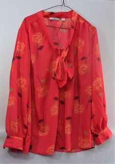 Isaac Mizrahi Live! Women's 1X Floral Ruffle Long Sleeves Sheer Cuffed…